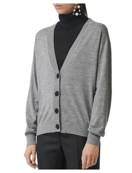 Dornoch Elbow Patch Cardigan by Burberry