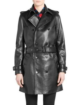 Leather Trench Coat by Saint Laurent
