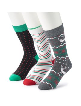 Men's Croft & Barrow® 3 Pack Holiday Socks by Croft & Barrow