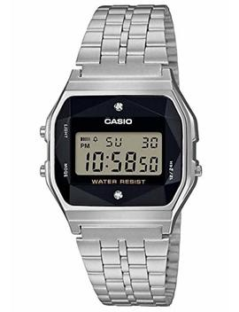 Casio Unisex Adult Digital Quartz Watch With Stainless Steel Strap A158 Wead 1 Ef by Casio