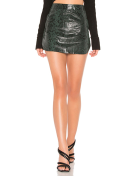 Simon Leather Mini Skirt by Karina Grimaldi