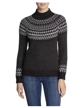 Nwt Eddie Bauer Womens Fair Isle Arctic Sweater   Size Small   Charcoal by Eddie Bauer