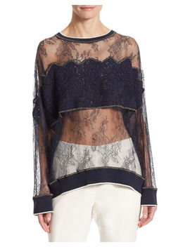 Dkny Womens  Floral Lace Shirt, S by Dkny
