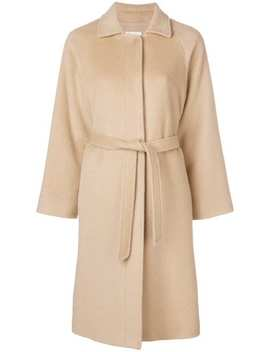 Belted Single Breasted Coat by Red Valentino