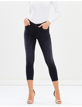 Mid Rise Crop Skinny Jeans by J Brand