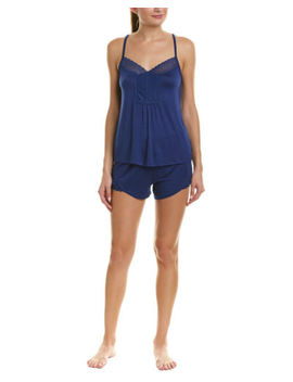 Catherine Malandrino Womens Catherine  2 Pc Pajama Short Set, Xl, Blue by Catherine Malandrino