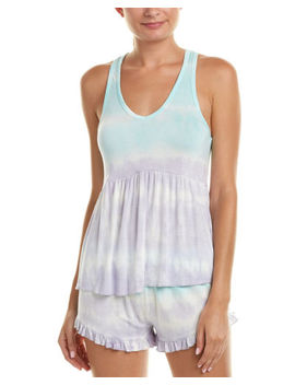 Betsey Johnson Womens  2 Pc Pajama Short Set, S, Blue by Betsey Johnson