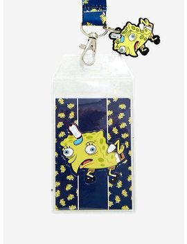 Nickelodeon Sponge Bob Square Pants Mocking Sponge Bob Face Lanyard by Hot Topic
