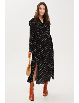 **Maternity Spot Pleated Shirt Dress by Topshop
