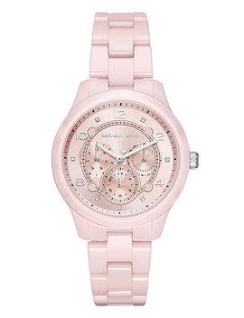 Women's Runway Pink Ceramic Bracelet Watch 38mm by Michael Kors