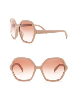 56mm Oversized Octagonal Sunglasses by Prada