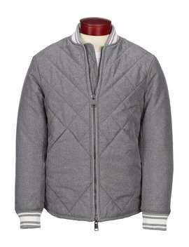 Quilted Full Zip Bomber Jacket by Armani Exchange