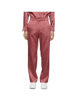 Pink Satin Toby Trousers by Sies Marjan