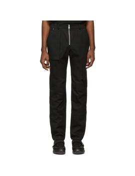 Black Twill Cargo Pants by S.P. Badu