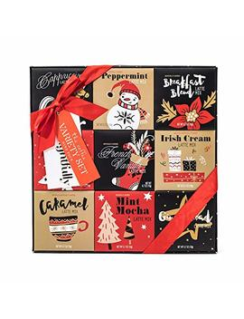 Holiday Latte Variety Gift Set | 9 Different Seasonal Coffee Flavors Including Gingerbread, Peppermint,... by Thoughtfully