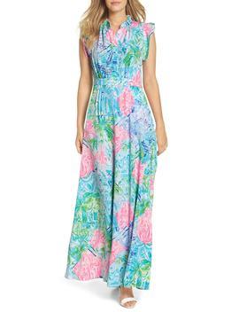 Palm Beach Silk Maxi Dress by Lilly Pulitzer®