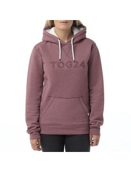 Tog 24   Mauve Marl Dove Graphic Hoody by Tog 24