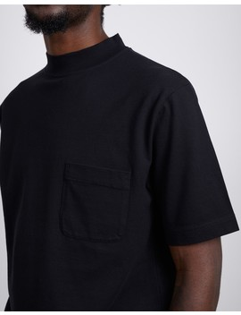 The Idle Man High Neck Pique Black by The Idle Man