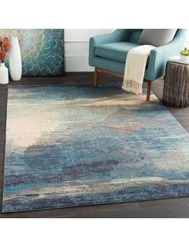 Rachel Blue Abstract Area Rug by Generic