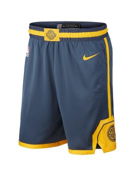 Golden State Warriors Nike City Edition Swingman Performance Shorts   Navy by Nike