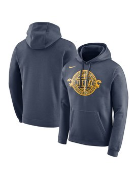 Golden State Warriors Nike City Edition Logo Essential Pullover Hoodie – Navy by Nike