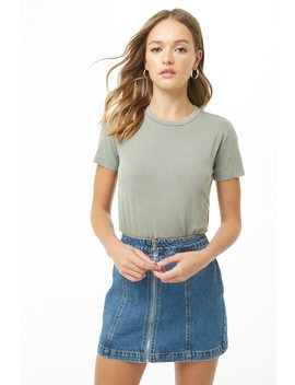 Faded Knit Tee by Forever 21