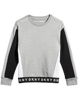 Big Girls Colorblocked Cotton Fleece Sweatshirt by Dkny