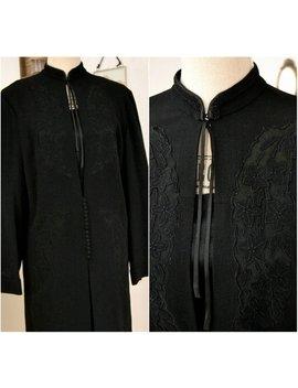 Original Vintage Coat, Jacket, Black, 40s, Size M, 40, Retro, Gothic, Steampunk by Etsy