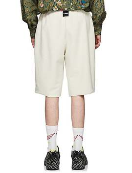 Cotton Blend Inside Out Drop Rise Shorts by Vetements