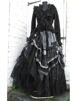Schrulligen Hitch Rüschen Lagenlook Gothic Rock Victorian Vintage Rock Steampunk Saloon Gipsy Whitby Rock Gothic Hochzeit Festival Maßgeschneiderte Aufträge by Etsy