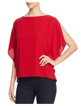 Silk Split Sleeve Top by Eileen Fisher