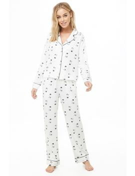 Cat Print Pj Set by Forever 21