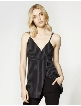 Pinstriped Layering Top by Aris