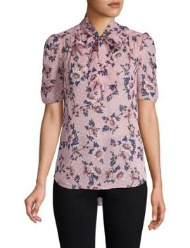 Out West Prairie Rose Silk Blouse by Kate Spade New York