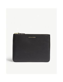 Leather Zip Top Pouch by Comme Pocket