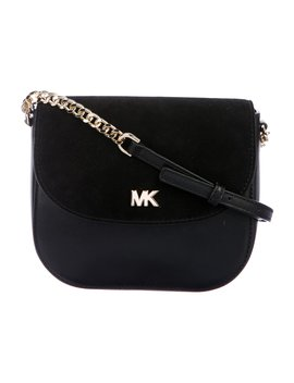 Suede Trimmed Leather Crossbody Bag by Michael Kors