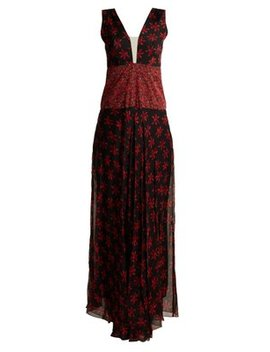 Gabrielle Floral Print Sleeveless Gown by Raquel Diniz