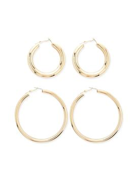 High Polish Hoop Earrings Set by Forever 21