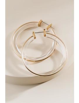 Marisol Lucite Hoop Earrings by Francesca's