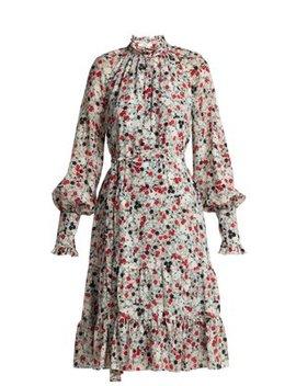 Eugenie Daisy Print Silk Dress by Erdem