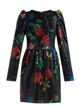 Sequin Embellished Mini Dress by Msgm