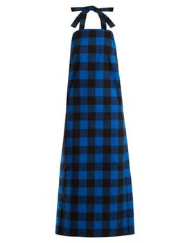 Checked Flannel Apron Dress by Vetements