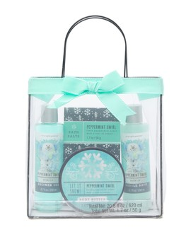 Peppermint Swirl Bath Tote Set by Tri Coastal Design