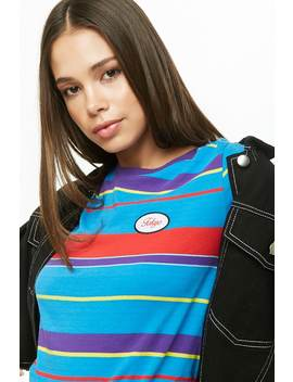Tokyo Patch Striped Tee by Forever 21