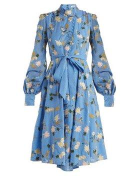 Neville Mariko Meadow Print Cotton Dress by Erdem