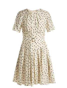 Ana Polka Dot Print Silk Dress by Diane Von Furstenberg