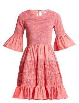 Susanne Shirred Taffeta Mini Dress by Molly Goddard