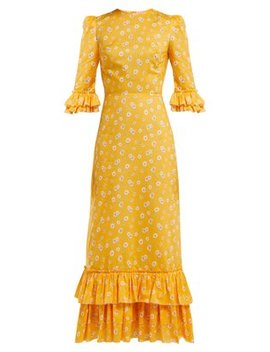 Cinderella Floral Print Cotton Dress by The Vampire's Wife