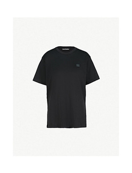Nash Face Oversized Cotton Jersey T Shirt by Acne Studios