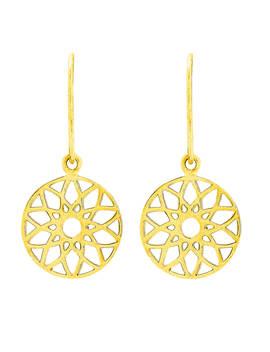 Auren Dreamcatcher Drop Earrings, Gold by Auren